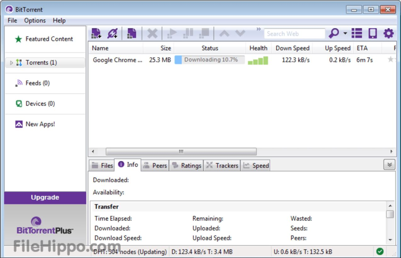 Download BitTorrent 7.10.5.45272.0 miễn phí